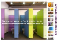 www . toiletcubicle s.org Focus on your school washrooms - Decra Ltd