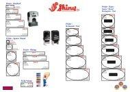 rubber stamp price list - 3@1 Cresta