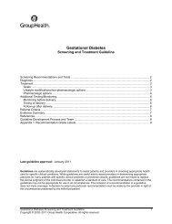 Gestational Diabetes Guideline - Group Health Cooperative
