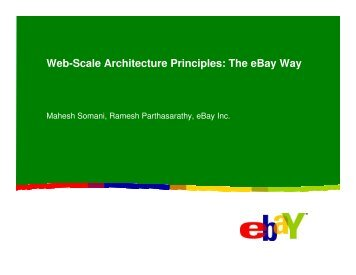 Web-Scale Architecture Principles: The ebay Way