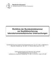 Richtlinie der Bundesärztekammer zur Qualitätssicherung ... - RfB