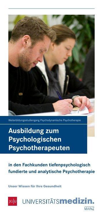 Ausbildung zum Psychologischen Psychotherapeuten
