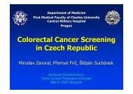 Colorectal Cancer Screening in Czech Republic - Future Health 2007