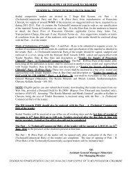 TENDER NO.TP/MTL/PCH/2012-2013 DT.30-04-2012 FOR ...