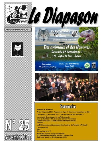 Diapason 25 - La Philharmonie de Roncq - Free