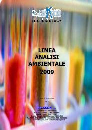 LINEA ANALISI AMBIENTALE 2009 - Lickson