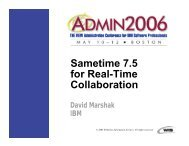 Sametime 7.5 for Real-Time Collaboration