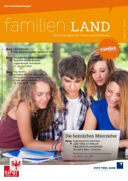 Journal 1/13 - Tirol - Familienpass