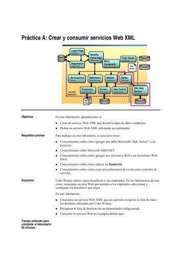Práctica A: Crear y consumir servicios Web XML - Willy .Net