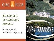 81E CONGRÈS ET ASSEMBLÉE ANNUELS - CISC-ICCA