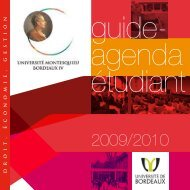 guide agenda étidiant 2009-2010 - Master Économie Appliquée ...