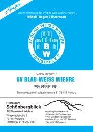 28.03.2010 SV Blau-Weiss Wiehre gegen PSV Freiburg