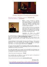 « Vivirlo, Rencontres et Variations autour de l'art gitan » - Opus 31