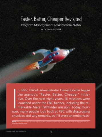 Faster, Better, Cheaper Revisited - Defense Acquisition University