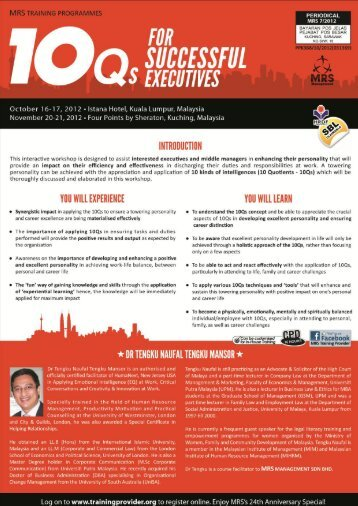 1.03 - Training Provider Malaysia