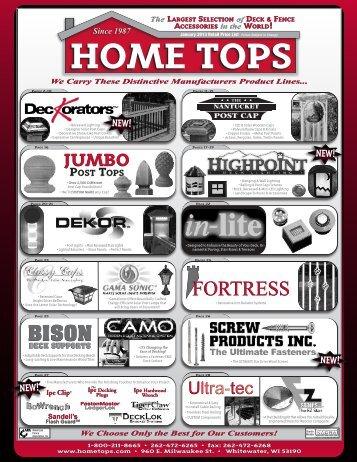 2013 Hometops Retail Price List 2.24 MB