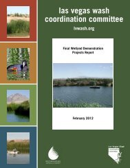 Final Wetland Demonstration Projects Report, 2012 - Las Vegas ...