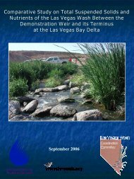 Final Project Report of TSS and Nutrient Study, 2006 - Las Vegas ...