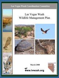 Las Vegas Wash Wildlife Management Plan, 2008