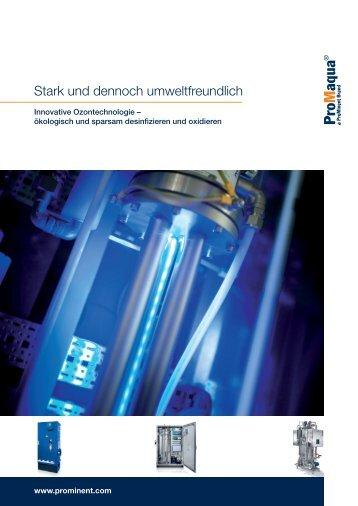Broschüre - Ozonerzeugungsanlagen - ProMinent