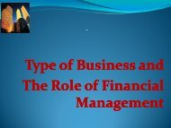 Chapter 1 -- The Role of Financial Management - Investor Relations