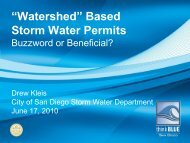 Watershed Based Storm Water Permits: Buzzword or ... - WESTCAS