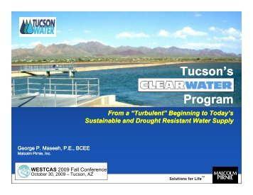 Tucson's CLEARWATER CLEARWATER Program