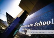 ACADEMIC RESEARCH FOCUS - University of Melbourne