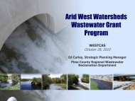The Arid West Wastewater Grant Program - WESTCAS