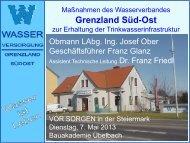 Maßnahmen des Wasserverbandes Grenzland Süd-Ost zur ...