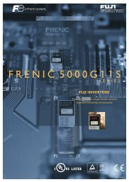 FRENIC5000G11S SERIES - Welcome to Fuji Electric
