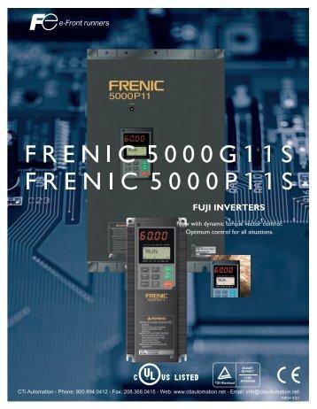 FUJI FRENIC 5000P11 & 5000G11 Series Inverters - CTi Automation