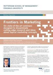 Frontiers in Marketing - Rotterdam  School of Management