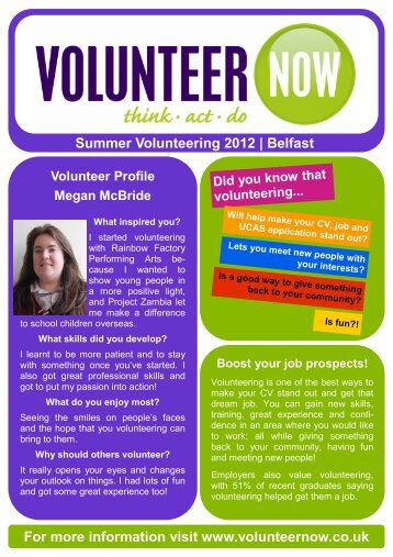 Summer - Belfast - Volunteer Now