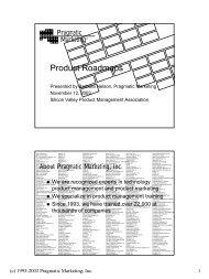Product Roadmaps - svpma