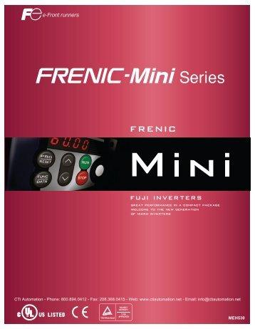 FUJI FRENIC-Mini Series Micro Inverters - CTi Automation