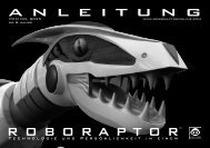 Bedienungsanleitung - WowWee Roboraptor - myRobotcenter