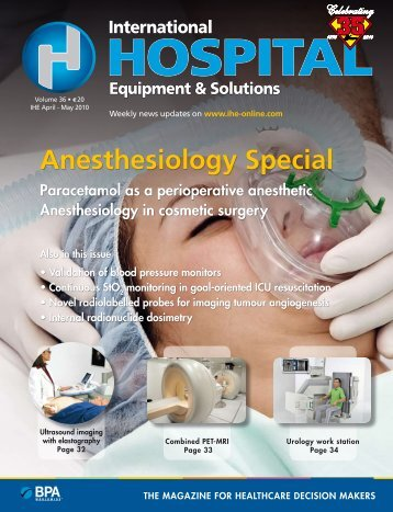 Anesthesiology Special book rEvIEwS - The IHE Website