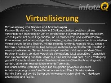 Virtualisierung - Wirtschaftsforum Oberland