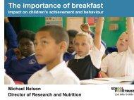 breakfast clubs - Associate Parliamentary Food and Health Forum