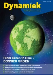 From Green to Blue ? DOSSIER GROEN - BECI