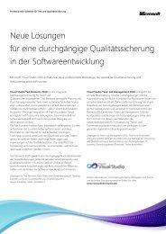Professionelle Software für Test und Qualitätssicherung