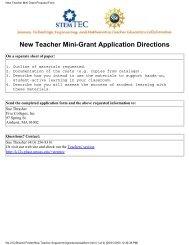 New Teacher Mini Grant Proposal Form