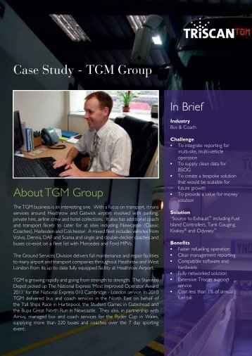 Case Study - TGM Group - Triscan