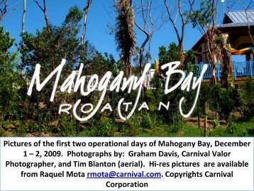 Pictures of the first two operational days of Mahogany ... - GoCCL.com