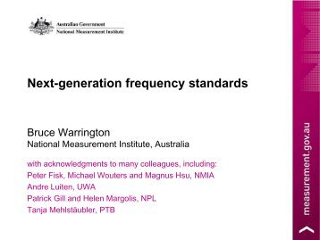 Next-generation frequency standards - 2011 Joint Conference of the ...