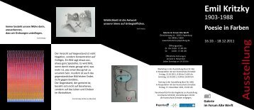 Informations Flyer herunterladen - Kulturkreis Papenburg