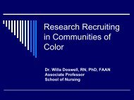 Community-Based - Office of Clinical Research