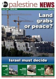 Land grabs or peace? - Palestine Solidarity Campaign