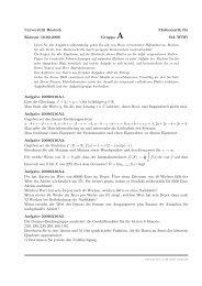 Universität Rostock Mathematik für Klausur 16.02.2009 Gruppe A ...